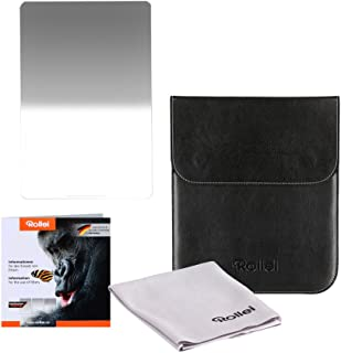 Rollei Profi Rechteckfilter Mark II   Grauverlaufsfilter (150x170 mm) mit weichem Verlauf aus Gorilla Glas   Soft GND 4 (2 Stopps/0,6) 150 mm System