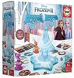 Educa Borrás-Frozen II Los Poderes de Elsa, juego de mesa con luz y sonidoy, a partir de 4 años, multicolor (18239) , color/modelo surtido