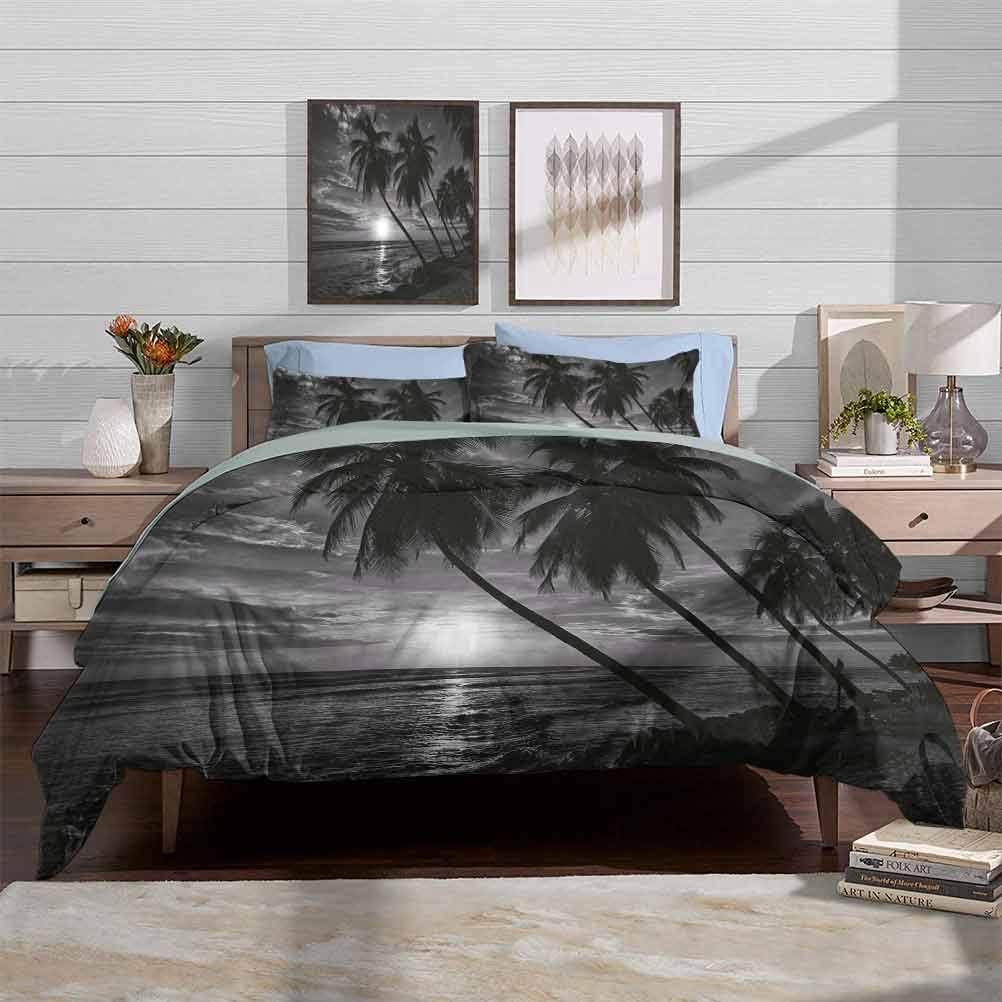 vsunburst Duvet Cover Set Tropical Coconut Pal Tampa Mall Bedding Sets Crib quality assurance