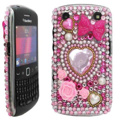 Juju Village Schutzhülle für BlackBerry Curve 9220, 9320Motiv Herz und Strasssteinchen