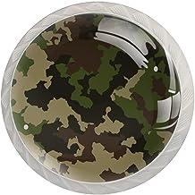 Legergroene Camouflage, Knoppen Illustratie Hars Lade Knoppen Kast Knoppen Decoratieve Knoppen voor Kabinet Garderobe Vier...