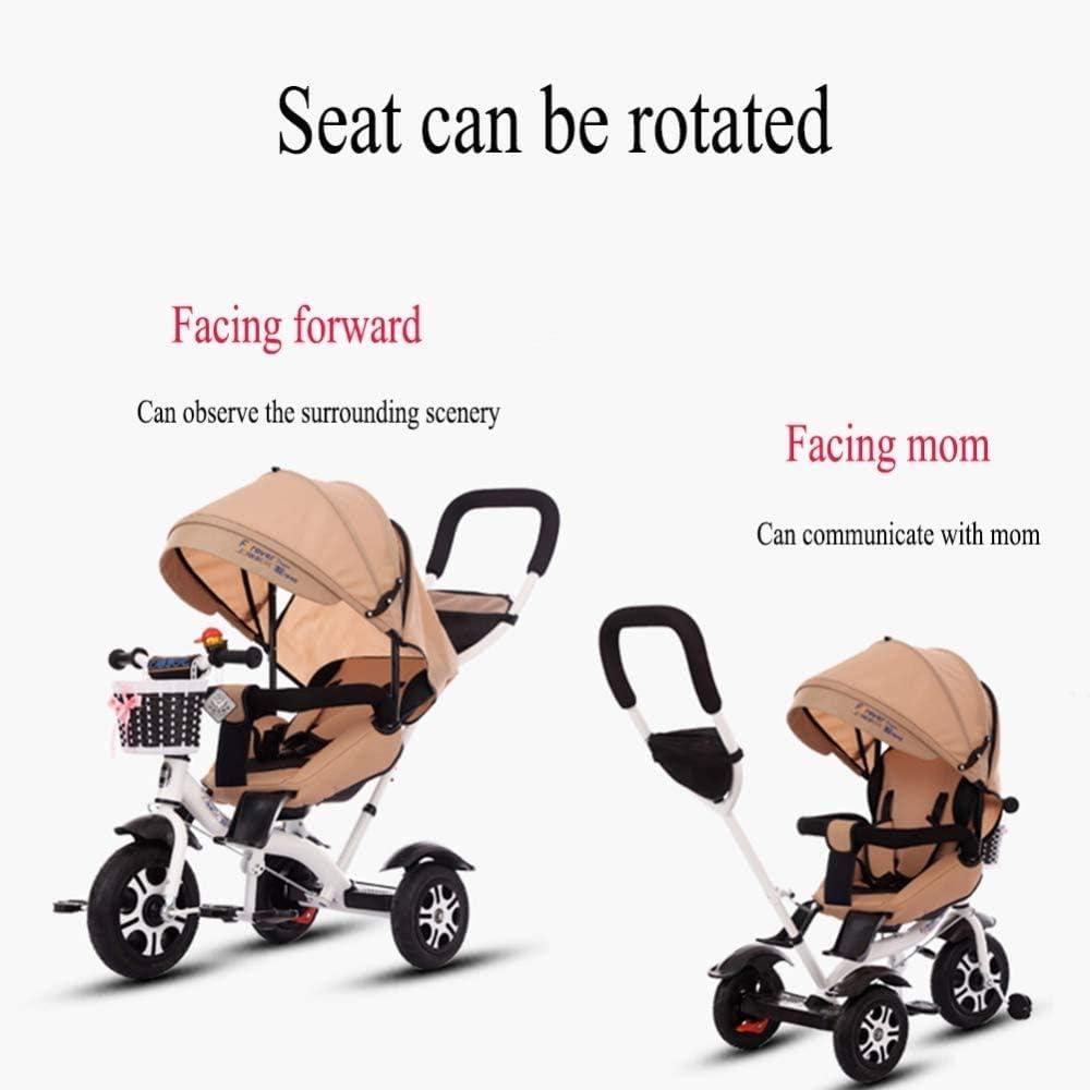 WNN-URG kindertricycle babyfiets-1-3-2-6 jaar oude Reclining Baby grote hand push-fiets kinderwagen maxi-zonwering en comfortabele verstelbare rugleuning WNN-URG (kleur: A) B