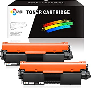 COLORUNION 2 Pack Compatible Toner Cartridge Replacement CF217A 17A 217A Toner for HP Printer Laserjet Pro M102a M102w MFP M130a M130fw M130nw M130fn Printer
