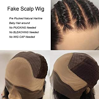 Light Yaki Lace Front Wigs Human Hair Fake Scalp 13x6 Lace Frontal Wig for Black Women Pre Plucked Brazilian Hair Lace Wig Yaki Straight