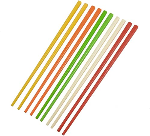 high quality Mallofusa 5 Pair Chinese Plastic Chopstickss outlet online sale Assorted Color sale Multi-color outlet sale