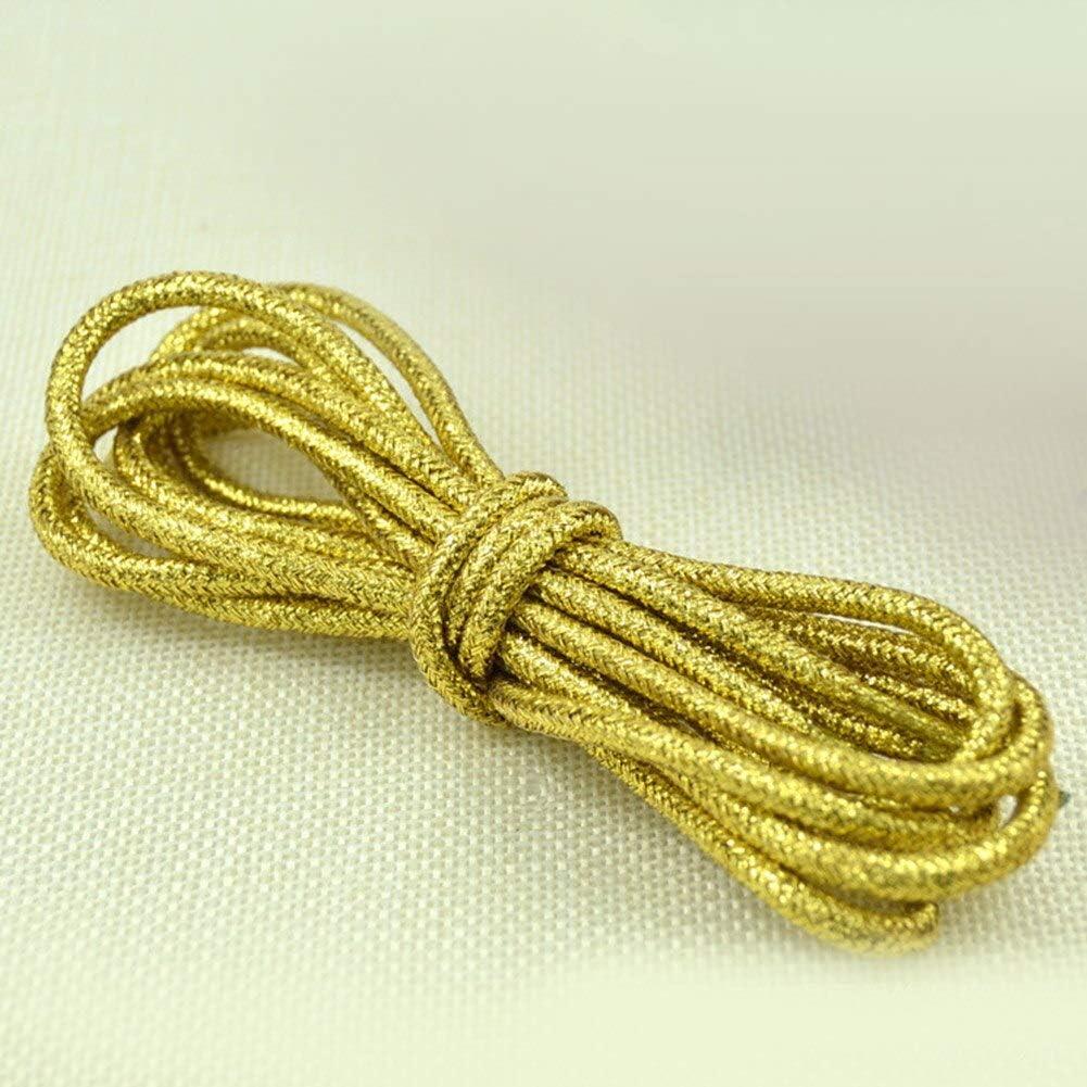DEXUNM Fashion 1Pair 115cm Reflective Round Shoelaces Gold Light Shoes Laces Martin Boots Shoes Strings 15 Colors