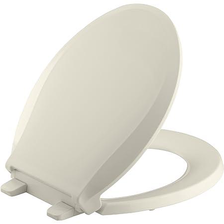 Kohler K 4639 47 Cachet Quiet Close With Grip Tight Bumpers Round Front Toilet Seat Almond Amazon Com