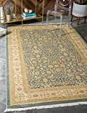 Unique Loom Edinburgh Collection Oriental Traditional French Country Blue Area Rug (8' 0 x 11' 0)