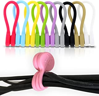 TwistieMag Strong Magnetic Silicone Twist Ties - Multi Color 10 Pack for Men & Women - Unique Gadgets for Cable Management and Organization, Hanging & Holding Stuff, Fidgeting, or Just for Fun