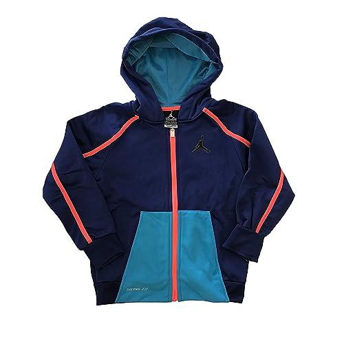 a7977ce83a4a4e Nike Boy s Jordan Full Zip Hoodie Grey Red