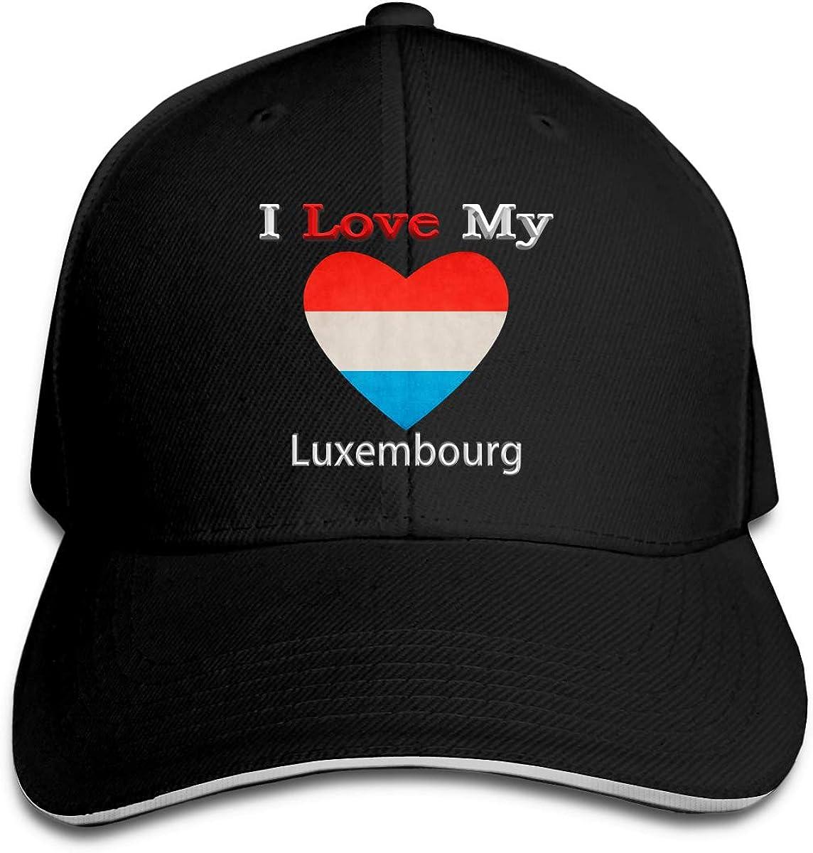 I Love My Flag of Luxembourg Heart Hat Baseball Cap Duck Tongue Cap Sunhat Fashion Cap