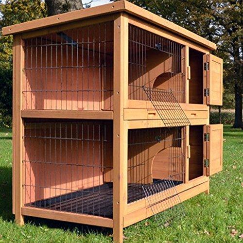 Zooprimus Kaninchenstall 05 Hasenkäfig – HOPPEL – Stall für Außenbereich (für Kleintiere: Hasen, Kaninchen, Meerschweinchen usw.) - 6