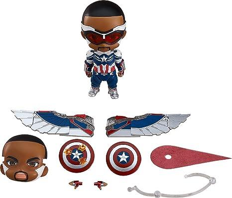 Good Smile Nendoroid Captain America (Sam Wilson) DX - The Falcon and The Winter Soldier Company, Multicolor (G12480)