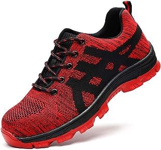 Sumateng Chaussures de sécurité Hommes et Femmes S3 Chaussures de Travail à Embout en Acier léger Chaussures de Protection...