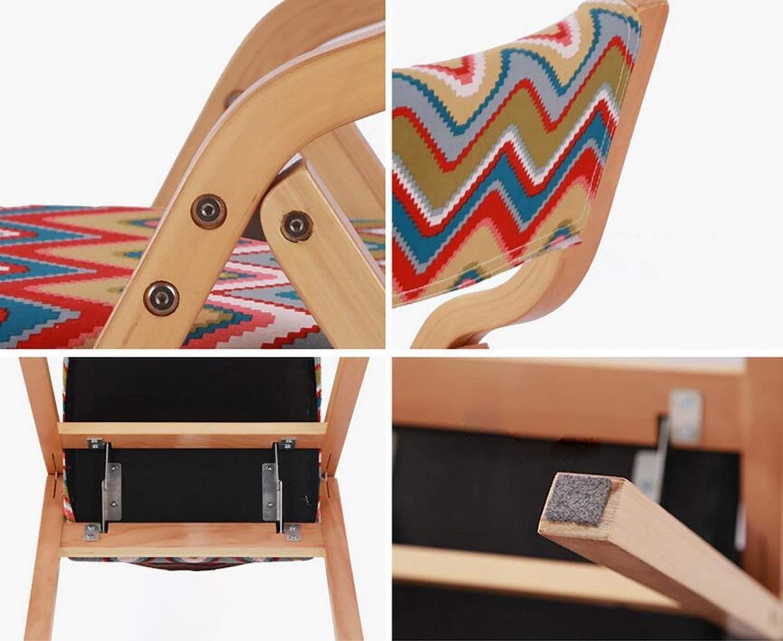 Chaise pliante Dossier Chaise de salle à manger Chaise de réception Ménage Loisirs bureau de la famille restaurant Café en bois massif (Color : A19) A19