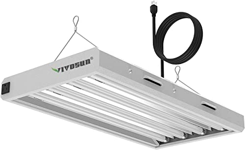 high quality VIVOSUN T5 Grow Lights 2 ft, T5 popular Light Fixture Bulbs, 6500K HO Fluorescent Tubes, High-Output T5 Bulbs for Indoor Plants, UL Listed, 4 Bulbs, 8 ft Power online Cord, 2 Hanging Cables, On/Off Switch online sale