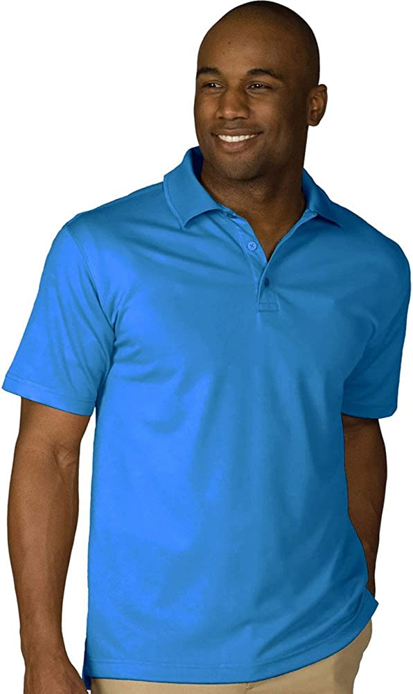 Edwards Men's Dry-Mesh Hi-Performance Polo, MARINA BLUE, 6XLarge
