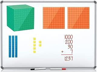 ETA hand2mind Magnetic Differentiated Base Ten Blocks, Math Manipulative Kit (Set of 131)