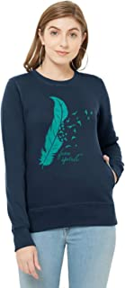 WYO Women's Full Sleeve Length Sweatshirt for Winter Wear with Graphic Print(Free Spirit Design)