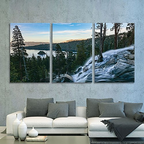 """wall26 - 3 Piece Canvas Wall Art - Vernazza in Cinque Terre, Italy, View from Mountain Trekking Path - Modern Home Decor Stretched and Framed Ready to Hang - 24""""x36""""x3 Panels"""