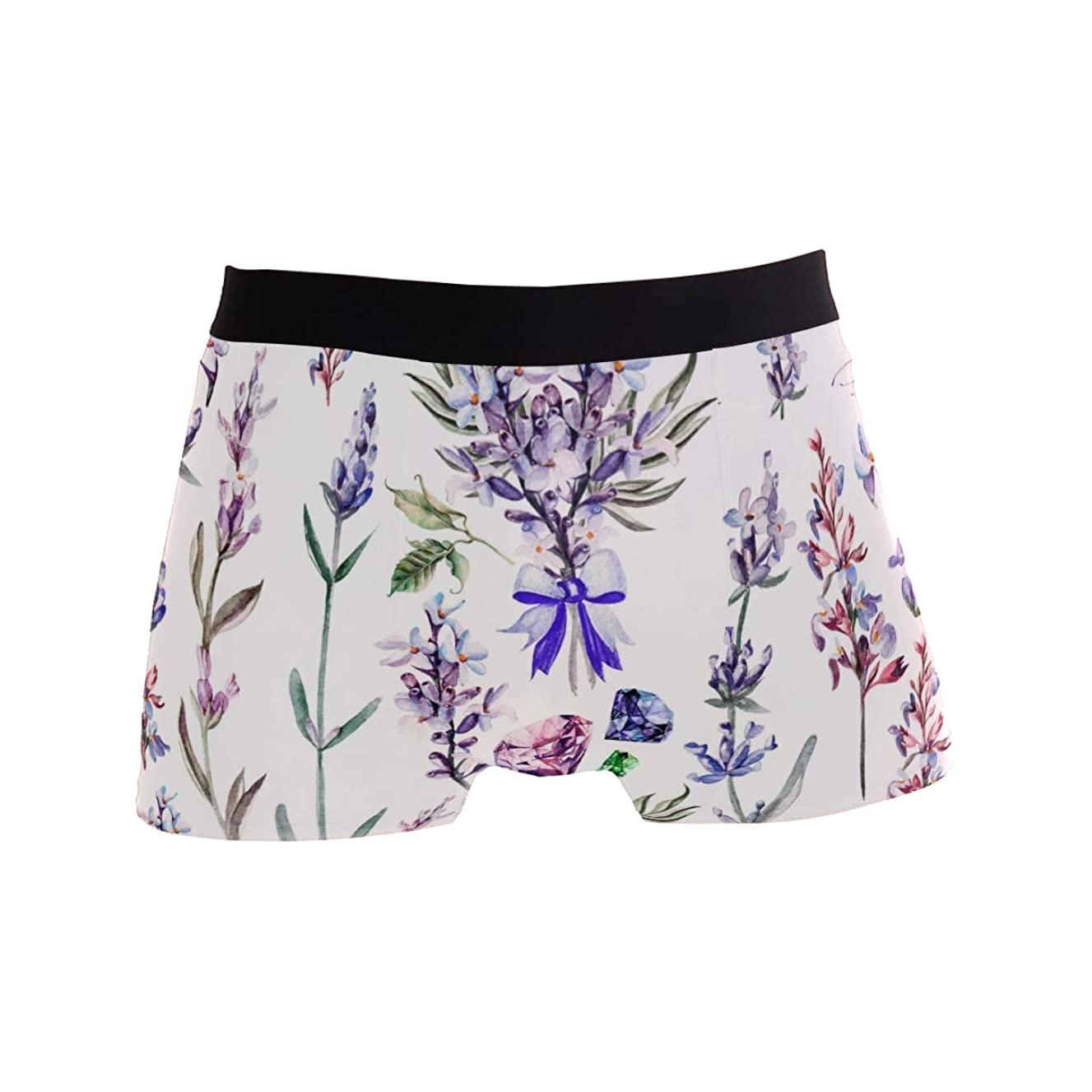 SLAFD Bundles of Flowers Men's Boxer Briefs Regular Soft Breathable Comfortable Underwear