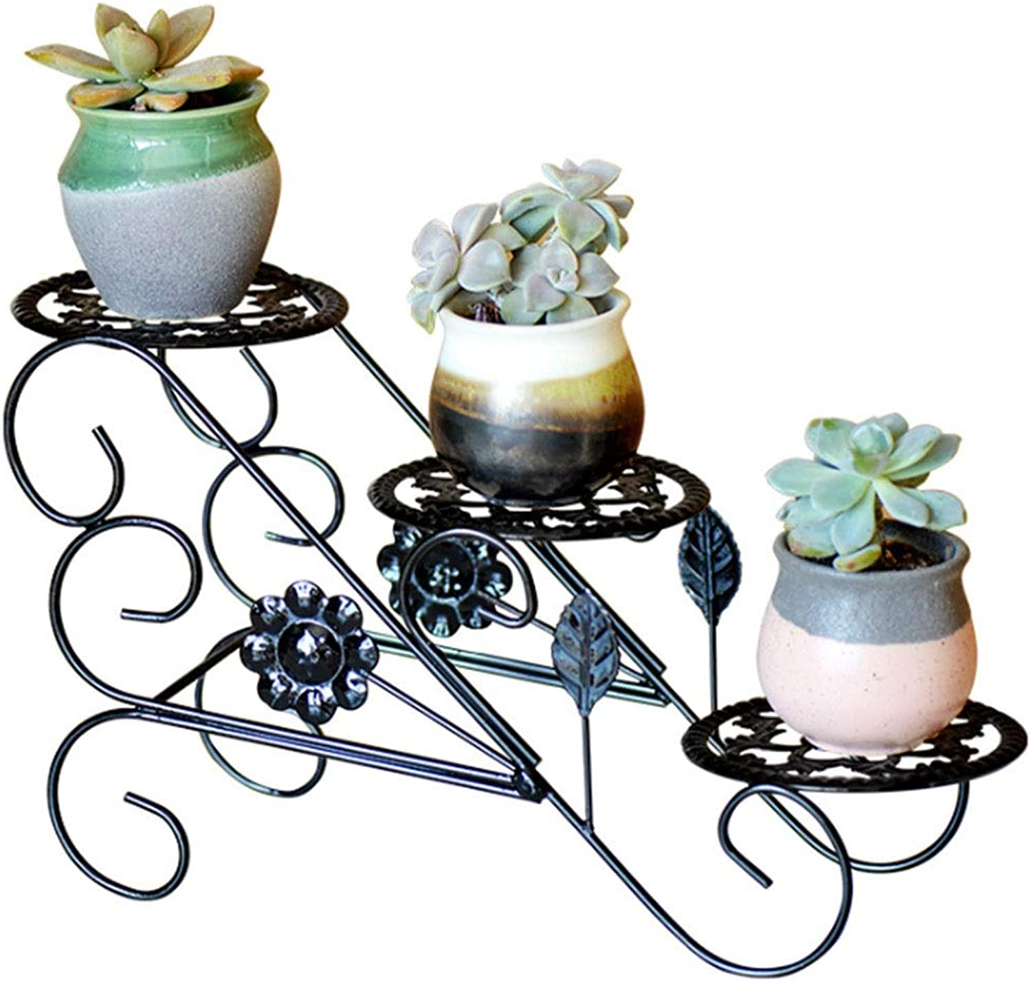 Flower Stand, European Wrought Iron Floor Type Multi-Layer Flower Pot Bracket Home Decoration