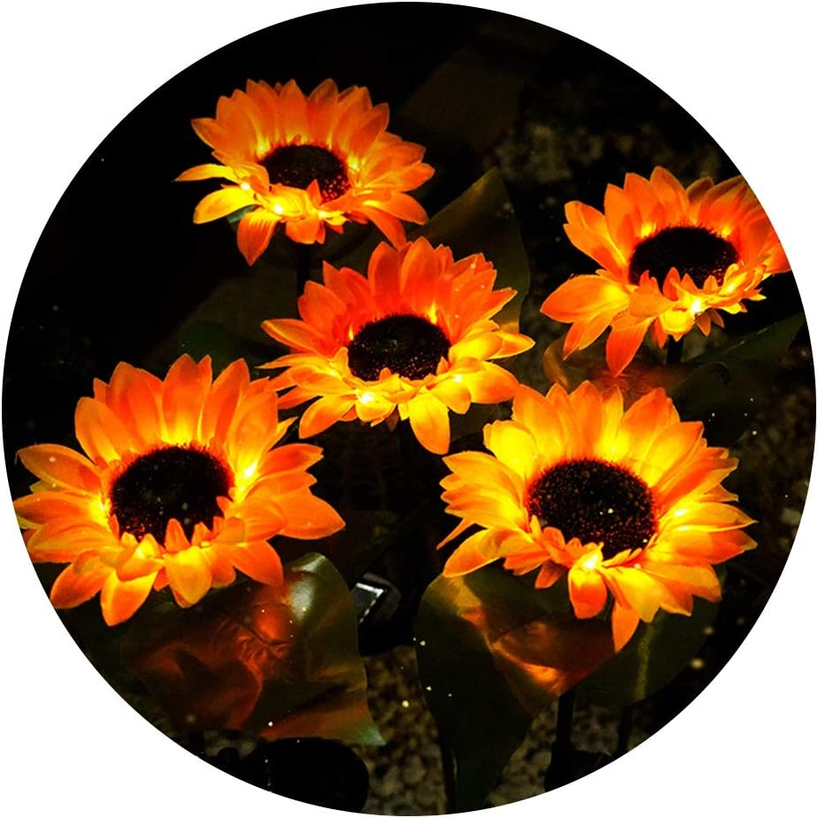 Figurine Lights Outdoor Sunflower Solar Light Garden Factory outlet Landscape S High material