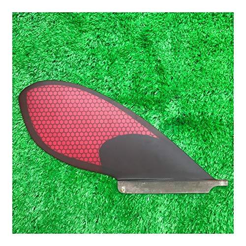 LTH-GD Accesorios de Tablero de Remo 7 Pulgadas inflables de Fibra de Vidrio de Nido de Abeja Sola Aleta Tabla de Surf Fin for el Surf Titular de la Tabla de Surf (Color : Red)