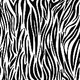 Arte Zebra Animal Print Tatuajes de pared Estudio Estudio Sala de estar Dormitorio Decoración Papel pintado Habitación infantil Escuela Pegatinas de pared Vinilo 60x60cm