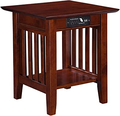 Outstanding Amazon Com Leick Furniture Mission Drawer End Table Solid Creativecarmelina Interior Chair Design Creativecarmelinacom