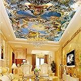 Gwgdjk Custom Home Wandbild Decke Deckenfresken Westeuropäischen Kirchendecke 3D Wallpaper Mythos-140X100Cm (56 * 40Inch)