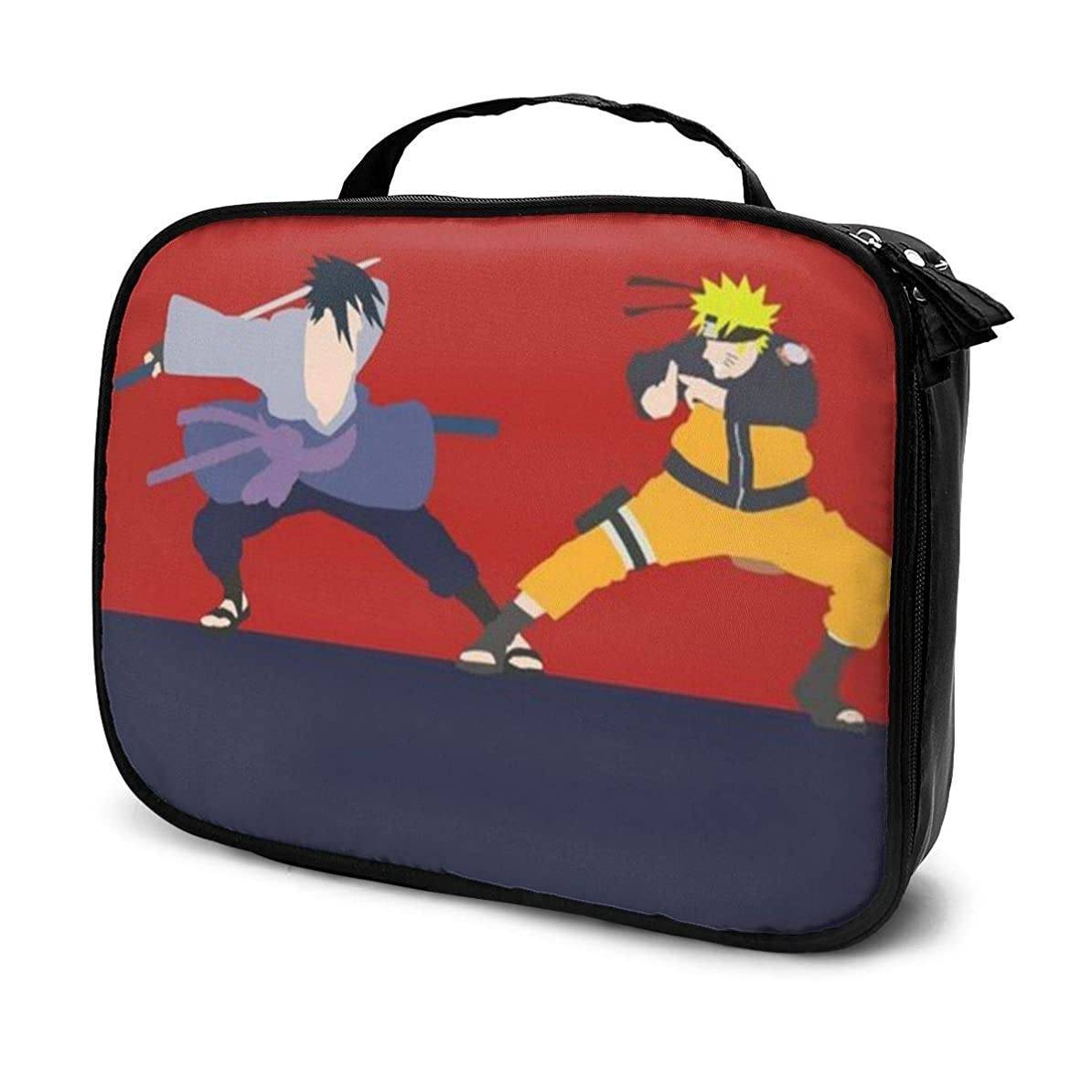 囲まれた肺炎受けるDaituナルトとサスケ 化粧品袋の女性旅行バッグ収納大容量防水アクセサリー旅行