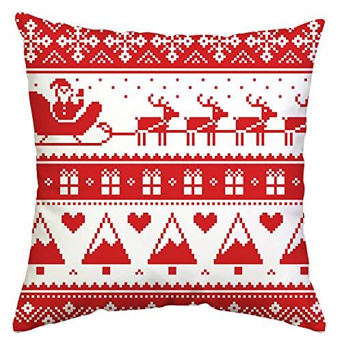 GTEXT - Funda de Almohada de Navidad para decoración de Vacaciones, Funda de Almohada para sofá, decoración del hogar, Almohadas de Lino de 18 x 18 Pulgadas