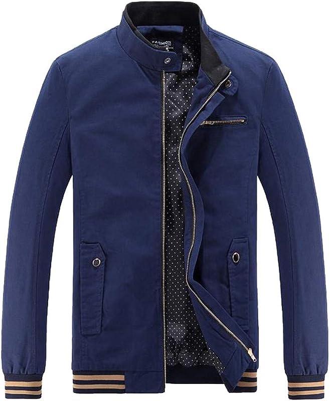 Dacawin Men Winter Fashion Warm Jacket Casual Turtleneck Slim Zipper Long Sleeve Coat Outwear