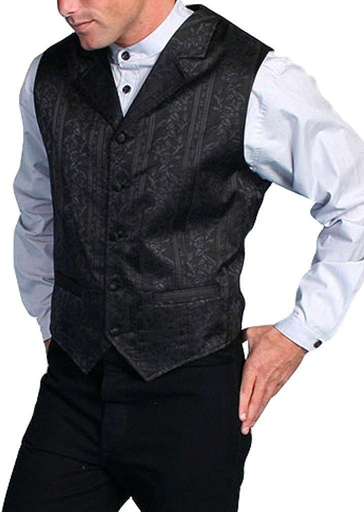 Scully Rangewear Men's Rangewear Eaton Stripe Vest Big and Tall Black