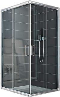 Cabina de ducha rectangular 70 x 100 H 185 transparente 6 mm