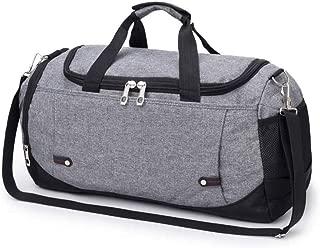 Asdfnfa Backpack, Portable Travel Bag Short-Distance Large-Capacity Luggage Bag Fitness Bag Travel Waterproof Folding Bag Shoulder Bag 50x22x29CM (Color : Gray)