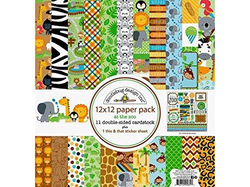 Doodlebug AZ Papier Pack, 12x 12