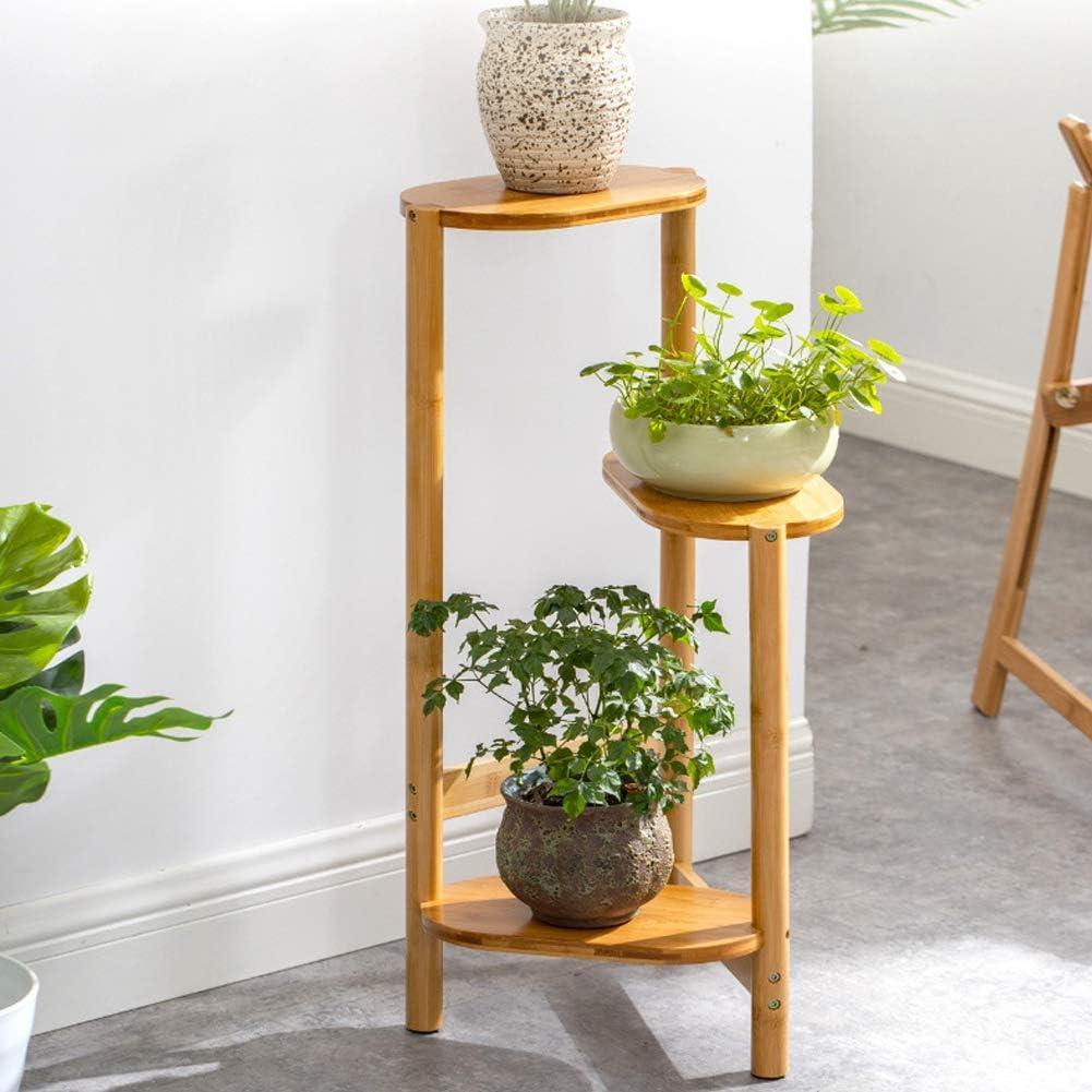 Support Pot de Plante pour Balcon Terrasse Jardin Bureau Support /à Plantes Color Legno Porte Pot de Fleurs avec 3 Tablettes Ausla /Étag/ère Plante en Bois