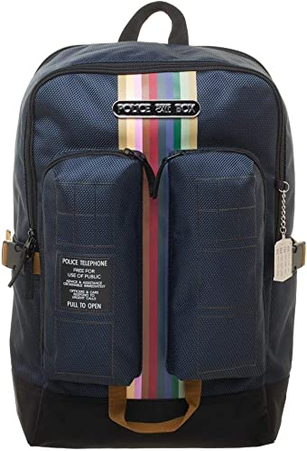 nueva marca Bioworld - Doctor Who Tardis Double Pocket Backpack with with with Laptop Pocket  ganancia cero