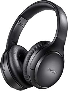 Active Noise Cancelling Headphones, Boltune Bluetooth 5.0 Over Ear Wireless Headphones with Mic Deep Bass, Comfortable Pro...