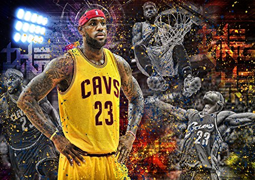 Poster Lebron James NBA Stars Basket Numéro 23-02