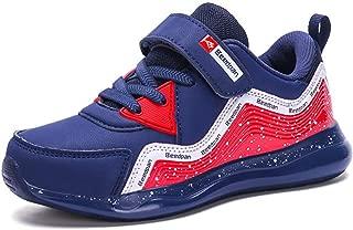 LGXH Boys Girl Tennis Walking Running Sneakers Lightweight Mesh Kids Slip-On Athletic Gym Jogging Shoes