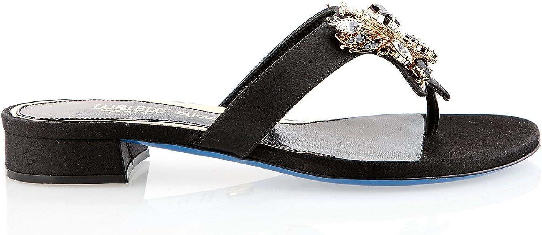 Loriblå Loriblå Loriblå 6356 Svarta Italienska Sandaler Swarovski Crystal  leverans kvalitet produkt