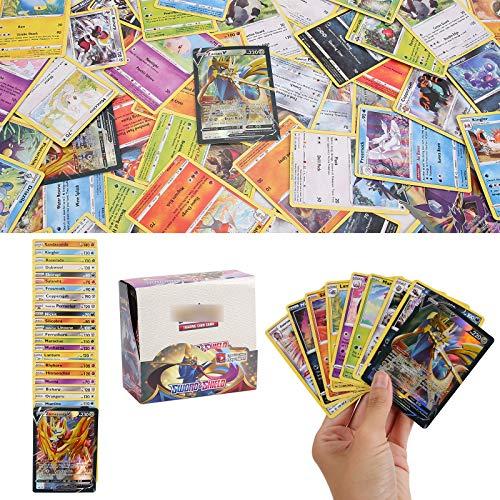 YNK 324 Stücke Karten, Sammelkarten Set, Pokemon Sack Karten, Trainer Karten, Sonne & Mond Series GX Karten für Geschenksammlungen, Wohnkultur, Brettspiele