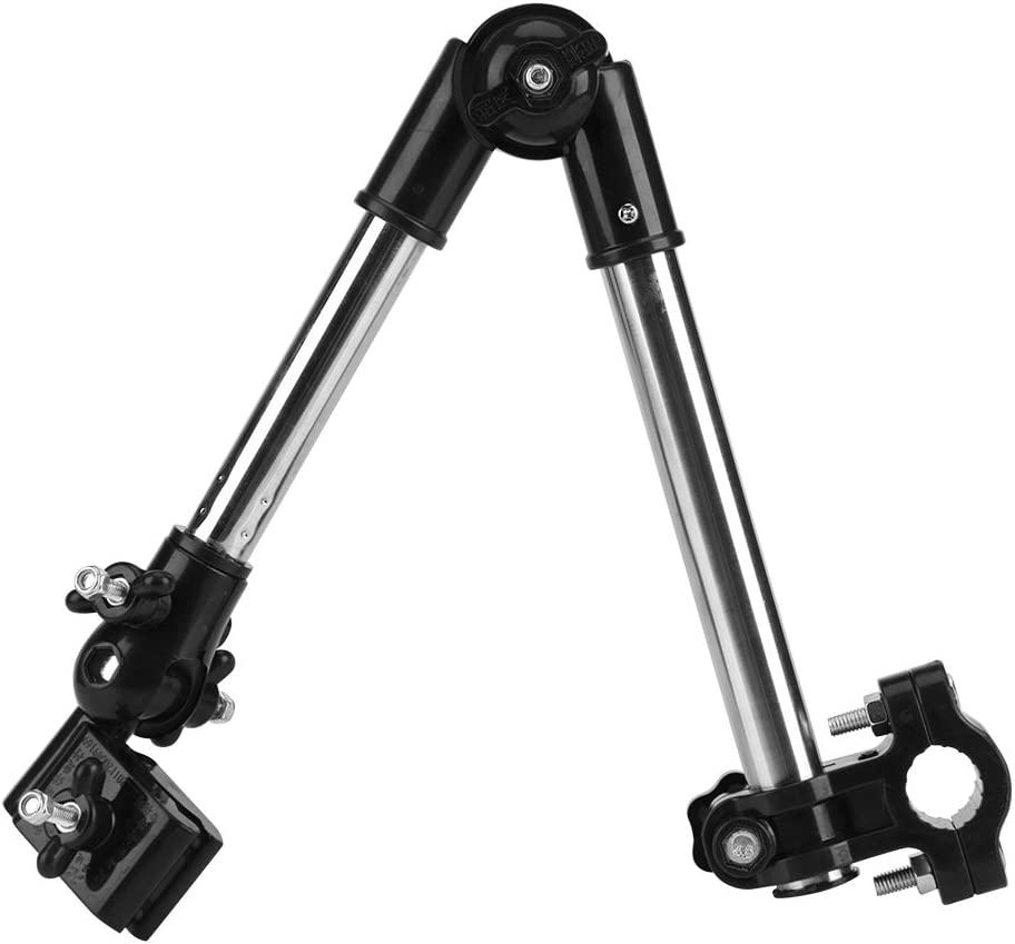 Umbrella Holder for Stroller, 360° Adjustable Bike Umbrella Stretch Mount Stand Holder Baby Stroller Pram Bicycle Chair(Black)