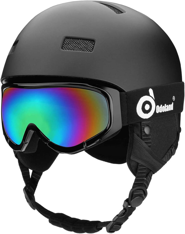Odoland Kinder und Erwachsene Skihelm Schneehelm mit Skibrille für Erwachsene und Jugendliche, EN1077 Zertifizierter Skihelm für Skating Skating Snowboarding, Stoßfest & Universal Fit B07FVD2YD9  Clever und praktisch