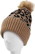 Hoeden Voor Vrouwen Herfst Winter Hoeden Luipaard Mode Haarbal Warm Gebreide Volwassen Cap Vrouwelijke Cover Head Cap Bean...