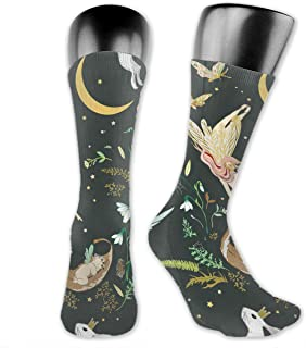 Luxury Calcetines de Deporte Enchanted Fairies Pattern Socks For Men Or Women, All-Season Lightweight Mid Calf Crew Socks