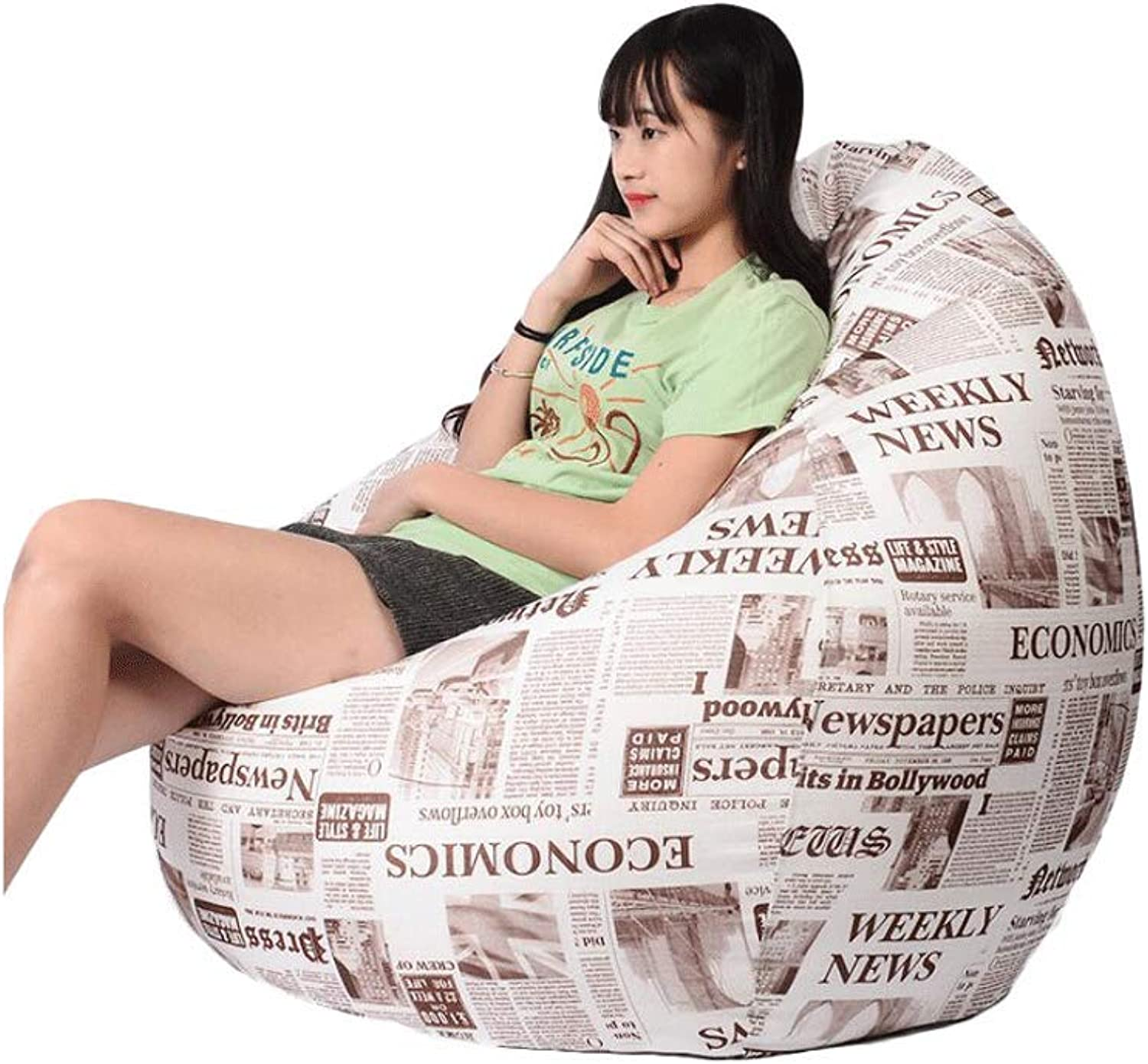Lazy Sofa Bean Bag Single Bedroom Cute Small Sofa Personalized Ground beanbag Sofa (color   Multi-colord, Size   2)